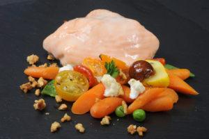 Chiffonnade de saumon aux Saint-Jacques